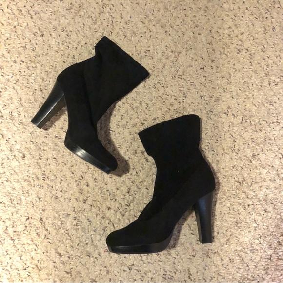 426a054730 Nine West Shoes   Saroonr Black Suede Mid Calf Boots 7m   Poshmark